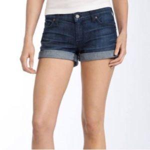 7FAM Roll Cuff Denim Shorts